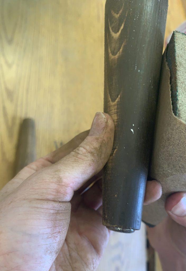 sanding legs